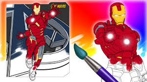 ironman coloring pages learn colors avengers