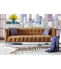 Beige Tufted Sofa by Velvet Tufted Sofa Acrylic Legs
