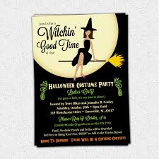 good ideas for a halloween party halloween party invitation dark orange chevron background with