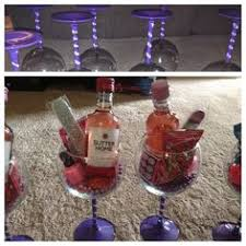 wine glass party favor wine glasses wirh glitter stems and mini wine bottle with black