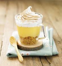 cuisine facile et originale verrine façon tarte au citron meringuée recette recette de