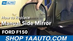 how to replace install manual side mirror 1998 ford f150 buy