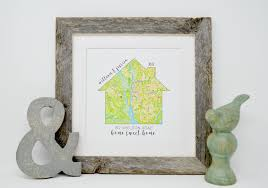 housewarming gifts for first home personalized housewarming gifts personalized home map first