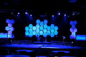 making room inspiration hexagon stage design church stage