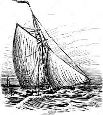 sailing boat sketch u2014 stock vector samakarov mail ru 103539708