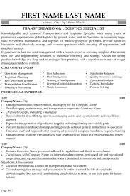 Resume Samples For Supply Chain Management by 20 Resume Samples For Supply Chain Management Military Resume