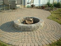 Lowes Firepit Kit Lowes Pit Kit With Stool And Outdoor Area And Pavers Flooring