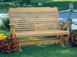 Wooden Garden Swing Seat Plans by Amish Pine Wood Curve Back Glider Outdoor Glider Gliders And