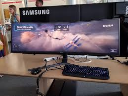 samsung chg90 32 9 super ultrawide monitor offers advantage for
