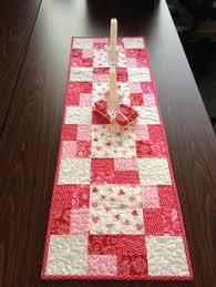 valentine s day table runner valentines day quilted table runner red white table runner