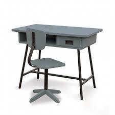 bureau d atelier bureau la classe et chaise d atelier gris souris laurette pour