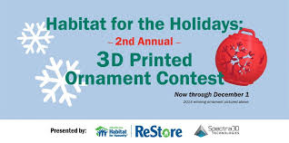 a 3d printed ornament contest you can feel about from