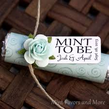 mint to be favors mint wedding favors with personalized mint to be tag set of 24
