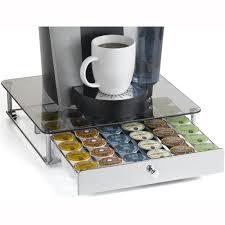 keurig k cup storage drawer glass top in tea and coffee storage