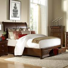 Bed Set With Drawers by Homelegance Karla 2 Piece Platform Sleigh Bedroom Set In Brown