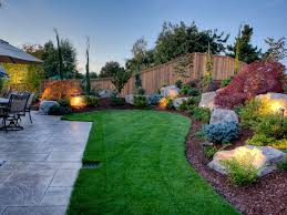 Landscaping Ideas For Sloped Backyard Backyard Landscape Design Photo Of Goodly Backyard Landscaping