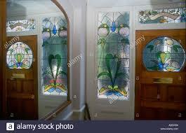 stained glass interior door decorative edwardian stained glass front door taken from interior