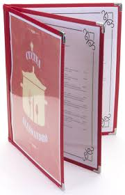 Restaurant Menu Covers Red 8 5 U201d X 11 U201d 3 Page Restaurant Menu Covers Leatherette Edge