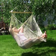 sunnydaze mayan chair hammock with wood spreader bar relaxing