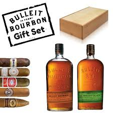 Cigar Gift Set Send A Bulleit Bourbon U0026 Rye Whiskey Gift Set With Cigars Online