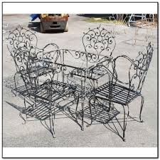 Antique Wrought Iron Outdoor Furniture by Antique Wrought Iron Patio Furniture Value Patios Home
