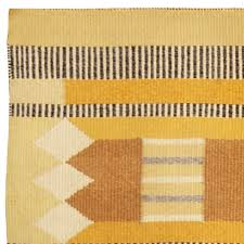 vintage yellow color vintage swedish rug bb4981 by doris leslie blau