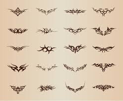 tribal element vector set free vector graphics all free