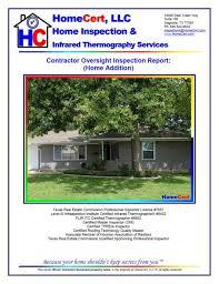 sample house inspection report homecert sample houston home inspection reports