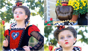 queen of hearts red queen halloween hairstyles youtube
