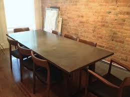 custom dining room table custom concrete dining room table u2022 dining room tables ideas