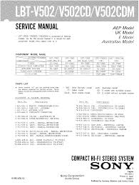 sony lbtv502 service manual immediate download