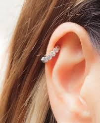 diamond helix stud helix piercing diamond stud archives moonli designs