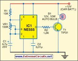 car reversing horn with flasher circuit diagram