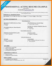 exle of acting resume acting resume sle writing tips resume admission paper ghostwriting service au automotive management
