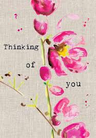 thinking of you cards pink flowers thinking of you card karenza paperie
