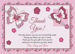 thank you cards baby shower plum butterfly thank you card for ba shower you print jpeg file