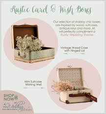wish box wedding rustic card boxes vintage inspired suitcases