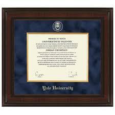 virginia tech diploma frame yale diploma frame excelsior graduation gift