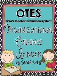 otes ohio u0027s teacher evaluation system organizational evidence binder