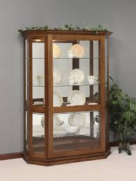 curio cabinet amish curio cabinets with glass doors ohio made