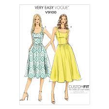 dress pattern john lewis vogue very easy women s a line sleeveless dress sewing pattern 9100
