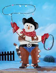 amazon com country western metal rodeo cowboy snowman colorful