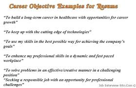 simple resume objective samples resumes objective examples resume