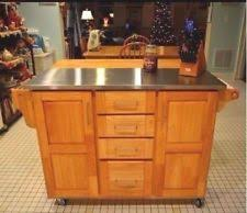 home styles kitchen island with breakfast bar home styles stainless steel kitchen islands carts ebay