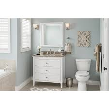 shop allen roth brisette 30 in w x 30 in h cream square bathroom