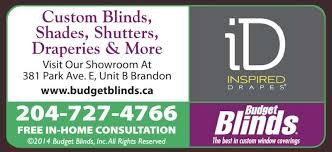 Budget Blinds Halifax Budget Blinds Brandon Mb 381b Park Ave E Canpages
