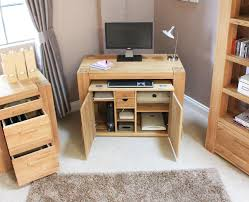 hideaway desk mobel solid oak computer of with pictures pinkax com