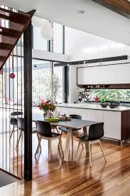 kitchen kitchendining double storey void high ceiling white