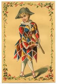 vintage mardi gras vintage image harlequin clown girl mardi gras the graphics fairy
