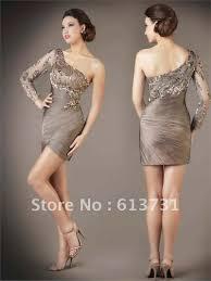 one shoulder long sleeve dress cocktail dresses 2016